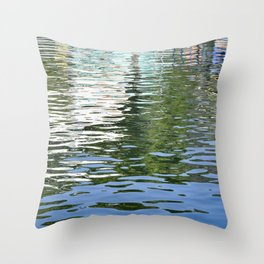 Colorful Reflections Abstract Throw Pillow