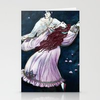coven Stationery Cards featuring Coven - Dancing Witch by Lorena Garcia