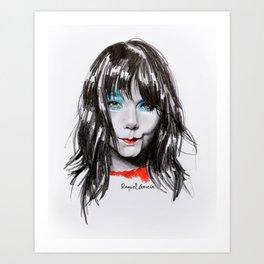 Bjork Portrait Art Print