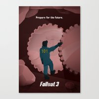 fallout 3 Canvas Prints featuring Fallout 3 by Will Crase