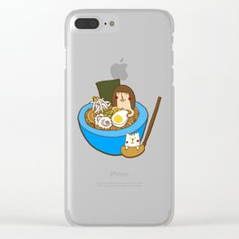 Ramen bowl Clear iPhone Case