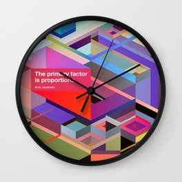 Proportions Wall Clock