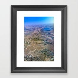 Superman's perspective Framed Art Print
