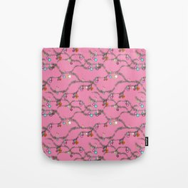 Holiday cheer hot pink Tote Bag