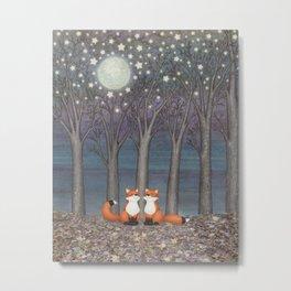 dreamy foxes Metal Print