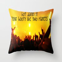 booty Throw Pillows featuring Booty by LocoLyrics