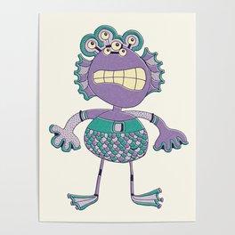 Robot Alien Monster No 349 Poster