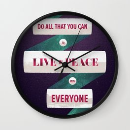 Romans 12:18 Wall Clock