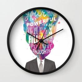 Mind Blown Positivity Wall Clock