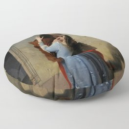The Kiss (Il Bacio) - Francesco Hayez 1859 Floor Pillow