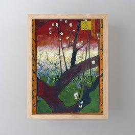 Vincent van Gogh Flowering Plum Orchard near Hiroshige Framed Mini Art Print
