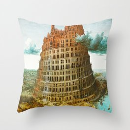 Pieter Bruegel the Elder's The Tower of Babel Throw Pillow