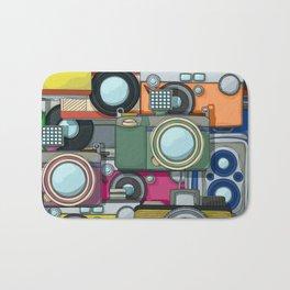 Vintage camera pattern Bath Mat