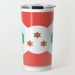 Flag of Burundi.  The slit in the paper with shadows. Travel Mug