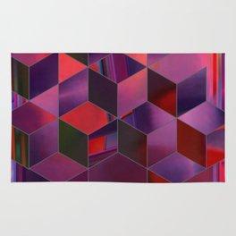 glitchy cubes Rug