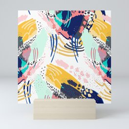 Modern abstract creative brush strokes Mini Art Print