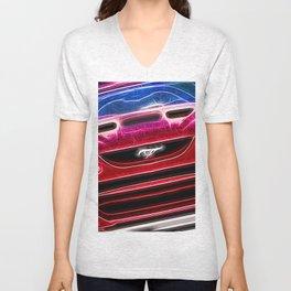 Mustang Neon Unisex V-Neck