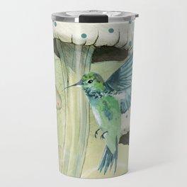 Hummingbird and Mushrooms Travel Mug