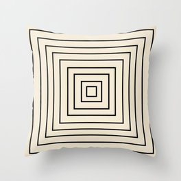 Layers black Throw Pillow