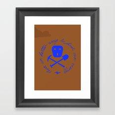 Coal Pirate Framed Art Print