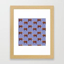 Simmental // Purple// Sprinkles Framed Art Print