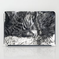 charlie iPad Cases featuring Charlie by Lucy Schmidt Art