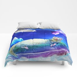 Ferret in the Sky with Crystals Comforters