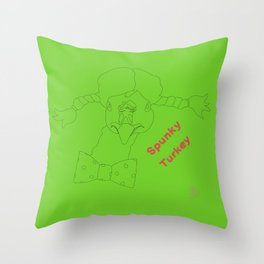 Spunky Turkey GB TX Throw Pillow