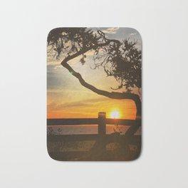 Sunset on Santa Monica beach, California, USA Bath Mat