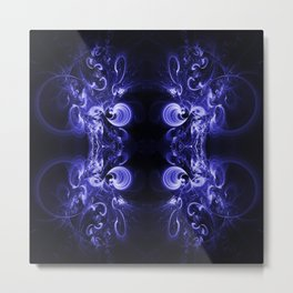Many Blue Spirals Metal Print