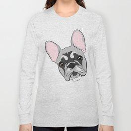 Jersey the French Bulldog Long Sleeve T-shirt