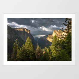 Tunnel View 1 Art Print