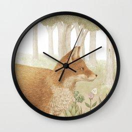 Marco the Fox Wall Clock