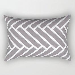 Gray and white herringbone pattern Rectangular Pillow