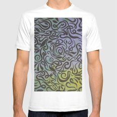 Blue vines  MEDIUM White Mens Fitted Tee