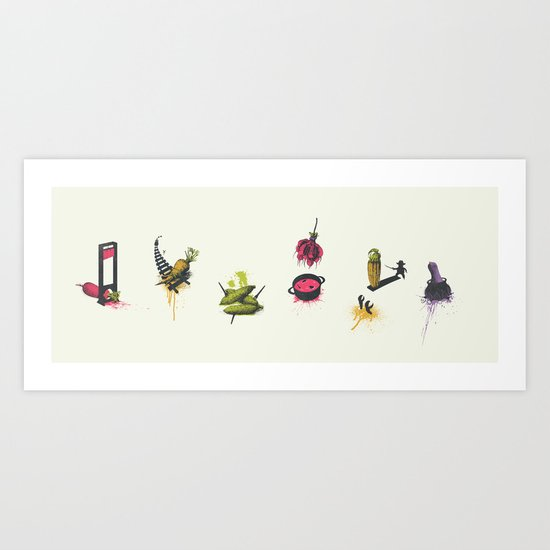 Vegetarians Can Be So Cruel Art Print