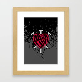 Dark Love Framed Art Print