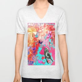 THE NIGHTINGALE SINGS TO THE MOON Unisex V-Neck