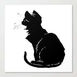 Life With Black Cats Vector Canvas Print