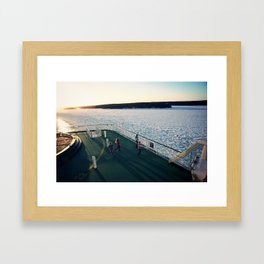Finland Ferry Framed Art Print