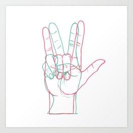PEACE&LOVE Art Print