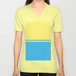 Solid&Solid: Yellow + Blue Unisex V-Neck