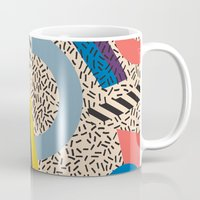 eames Mugs featuring Memphis Inspired Pattern 3 by Season of Victory