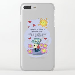 The Philosopher; Steve, the loving zombie Clear iPhone Case