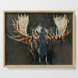 Charging moose Serving Tray