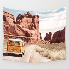 Desert Road Trip Wall Tapestry