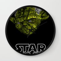 yoda Wall Clocks featuring Yoda by Stormega