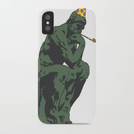 Thinking About partying iPhone Case