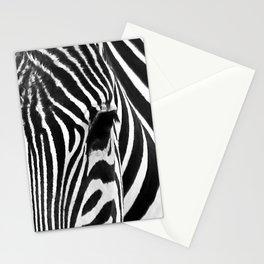 Portrait of Zebra Black and White #decor #society6 #buyart Stationery Cards