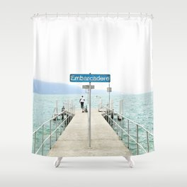 Embarcadère du Léman - Leman Jetty Shower Curtain
